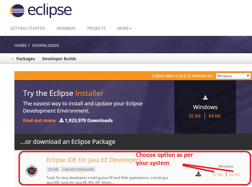 how to install eclipse mars in windows 8 64 bit